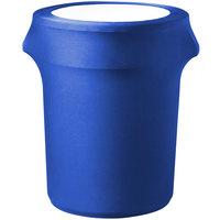 Snap Drape TCCCC32ROYAL Contour Cover 35 Gallon Royal Blue Spandex Trash Can Cover