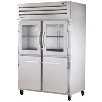 True STR2R-2HG/2HS Specification Series 52 inch Reach In Refrigerator with Two Solid and Two Glass Half Door - 56 Cu. Ft.