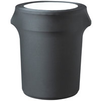 Snap Drape TCCCC55CHAR Contour Cover 55 Gallon Charcoal Spandex Trash Can Cover