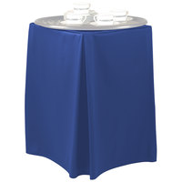 Snap Drape TRYWYN30ROYAL Wyndham 19 inch x 17 inch x 30 inch Royal Blue Tray Stand Cover
