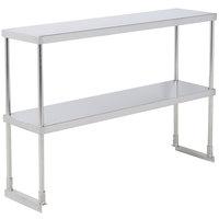 Avantco 178SSDOS4812 Stainless Steel Double Deck Overshelf - 12 inch x 48 inch
