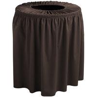 Snap Drape TCCWYN55BROWN Wyndham 55 Gallon Brown Shirred Pleat Trash Can Cover