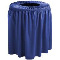 Snap Drape TCCWYN35ROYAL Wyndham 35 Gallon Royal Blue Shirred Pleat Trash Can Cover