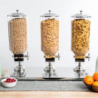 Choice Large Triple Canister Cereal Dispenser - 8 Liter