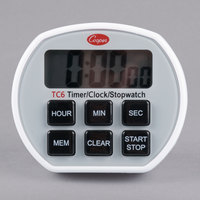 Cooper-Atkins TC6-0-8 Digital Kitchen Timer with Clock and Stopwatch
