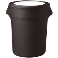 Snap Drape TCCCC32CHOC Contour Cover 35 Gallon Chocolate Spandex Trash Can Cover