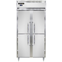 Continental DL2RSES-SS-HD 36 inch Narrow Shallow Depth Solid Half Door Reach-In Refrigerator