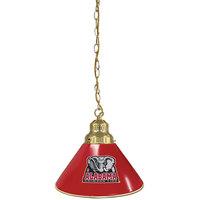Holland Bar Stool BL1BRAL-Ele University of Alabama Logo Pendant Light with Brass Finish - 120V