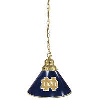 Holland Bar Stool BL1BRND-ND University of Notre Dame Logo Pendant Light with Brass Finish - 120V