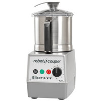 Robot Coupe Blixer 4V Variable Speed Food Processor with 4.5 Qt. Stainless Steel Bowl - 2 hp