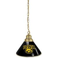 Holland Bar Stool BL1BRIowaUn University of Iowa Logo Pendant Light with Brass Finish - 120V
