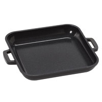 GET CA-104-BK/BK Heiss 10 oz. Black Enamel Coated Cast Aluminum Mini Square Coated Cast Aluminum Grill Pan