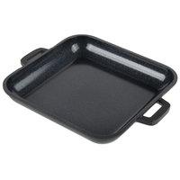 GET CA-104-BK/BK Heiss 10 oz. Black Enamel Coated Cast Aluminum Mini Square Coated Cast Aluminum Grill Pan