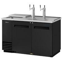 Turbo Air TCB-2SB (2) Double Tap Club Top Kegerator Beer Dispenser - Black, (2) 1/2 Keg Capacity