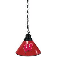 Holland Bar Stool BL1BKWisc-W University of Wisconsin Logo Pendant Light with Black Finish - 120V