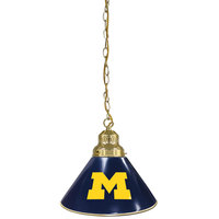 Holland Bar Stool BL1BRMichUn University of Michigan Logo Pendant Light with Brass Finish - 120V