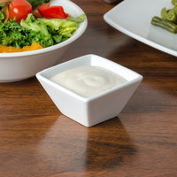 American Metalcraft CSC20 2 oz. White Square Porcelain Sauce Cup
