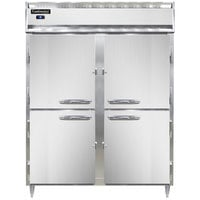 Continental DL2RE-SS-HD 57 inch Extra-Wide Solid Half Door Reach-In Refrigerator