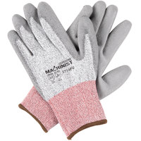 Machinist Salt and Pepper HPPE/Glass Fiber Cut Resistant Gloves with Gray Polyurethane Palm Coating - Medium -Pair