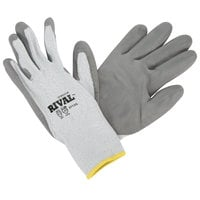 Rival Gray HPPE / Synthetic Fiber Cut Resistant Gloves with Gray Polyurethane Palm Coating - Large - Pair