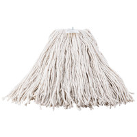Continental Wilen A503332 32 oz. Cut End Natural Cotton Mop Head with Screw-On Band