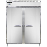 Continental DL2RES-SS 57 inch Extra-Wide Shallow Depth Solid Door Reach-In Refrigerator
