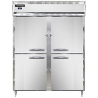 Continental DL2RES-SS-HD 57 inch Extra-Wide Shallow Depth Solid Half Door Reach-In Refrigerator
