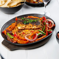Valor 13 inch x 10 inch Pre-Seasoned Cast Iron Oval Sizzler