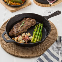 Valor 10 1/4 inch Pre-Seasoned Cast Iron Round Skillet