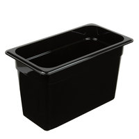 Cambro 38CW110 Camwear 1/3 Size Black Polycarbonate Food Pan - 8 inch Deep