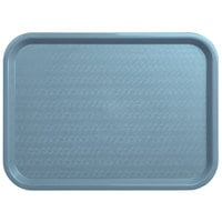 Carlisle CT121659 Customizable Cafe 12 inch x 16 inch Slate Blue Standard Plastic Fast Food Tray - 24/Case