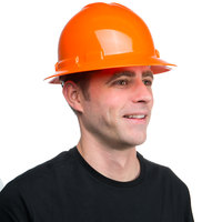 Duo Safety Orange Full-Brim Style Hard Hat with 4-Point Ratchet Suspension