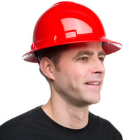 Duo Safety Red Full-Brim Style Hard Hat with 4-Point Ratchet Suspension