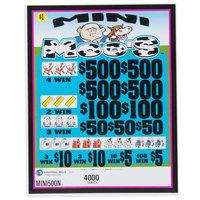 Mini Moo's 5 Window Pull Tab Tickets - 4000 Tickets per Deal - Total Payout: $3000