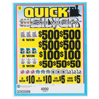 Quick Silver 5 Window Pull Tab Tickets - 4000 Tickets per Deal - Total Payout: $3000
