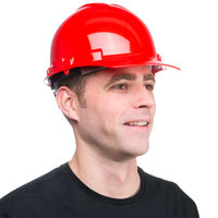Duo Safety Red Cap Style Hard Hat with 4-Point Ratchet Suspension