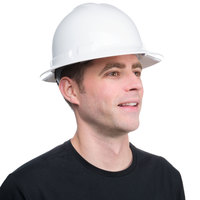 Duo Safety White Full-Brim Style Hard Hat with 6-Point Ratchet Suspension