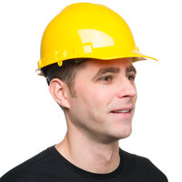 Duo Safety Yellow Cap Style Hard Hat with 4-Point Ratchet Suspension