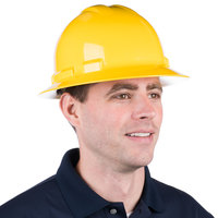 Duo Safety Yellow Full-Brim Style Hard Hat with 4-Point Ratchet Suspension
