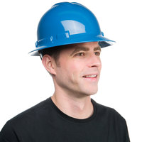 Duo Safety Blue Full-Brim Style Hard Hat with 4-Point Ratchet Suspension