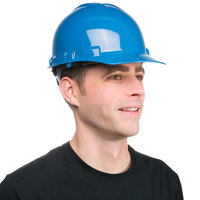 Duo Safety Blue Cap Style Hard Hat with 6-Point Ratchet Suspension