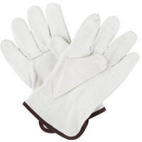 Premium Grain Cowhide Leather Driver's Gloves - Large - Pair
