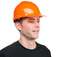 Duo Safety Orange Cap Style Hard Hat with 4-Point Ratchet Suspension