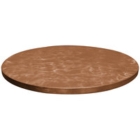 Tablecraft CWALC3RSATCP 30 inch Round Translucent Copper Random Swirl Aluminum Table Cover