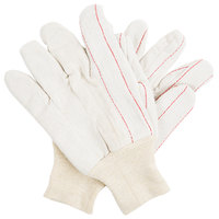 Nap-in Polyester / Cotton Double Palm Work Gloves - Large - Pair - 12/Pack