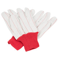 Red Nap-In Cotton Double Palm Work Gloves - Large - Pair - 12/Pack