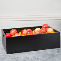 Tablecraft CRATE116B Gastronorm Black Wood Serving and Display Crate 21 inch x 13 inch x 6 1/4 inch