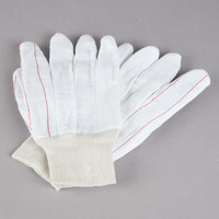 Natural Polyester / Cotton Double Palm Work Gloves - Large - Pair - 12/Pack