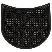 Tablecraft 4CSBK Black 4 1/4 inch x 4 inch x 3/8 inch Crescent Drip Tray