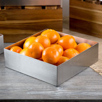 Tablecraft SS4004 5 Qt. 18-8 Stainless Steel Straight Sided Square Bowl - 10 inch x 10 inch x 3 inch